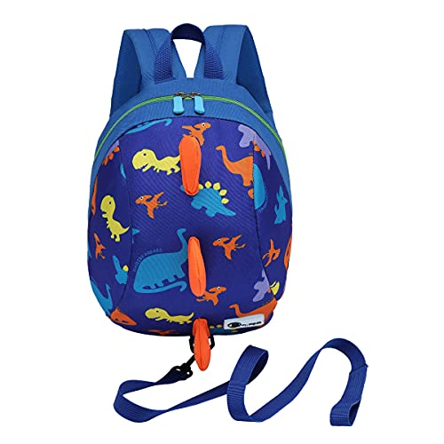 DD Toddler Backpack with Reins, Cute Kids Child Dinosaur Bag for Boys...
