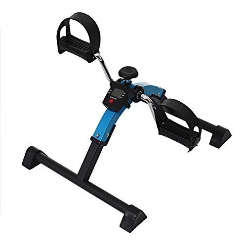ZXYWW Debajo del Ejercitador del Pedal del Escritorio, Bicicleta Estática De Interior con Monitor LCD, Ejercitador De Pedal Portátil para Entrenamiento De Brazos Y Piernas, Entrenamiento En Casa