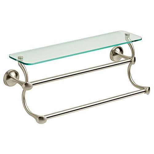glass shelves in brushed nickel - 9