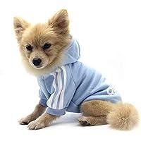 QiCheng&LYS Adidog Dog Hoodie Ropa, Mascota Cachorro Gato algodón Lindo cálido Sudadera con Capucha suéter (XXL, Azul)
