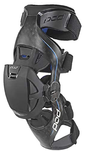 POD Unisex-Adult K8 Knee Brace (Carbon/Blue, Large) (Pair)