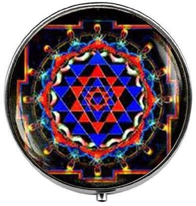 Sri Yantra - Pastillero de meditación de mandala para yoga, caja de...