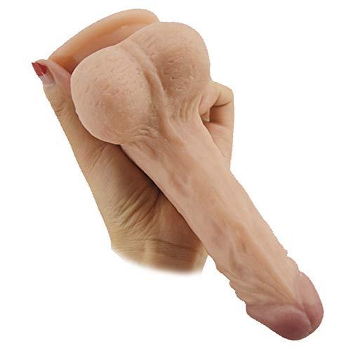 Flesh Größe Stock-Füße mit Cup super Bequeme Begleiter Spielzeug Hosen Silikon Hand Saug Powerful 7,48 Zoll / 19 cm WRQ02Y19R