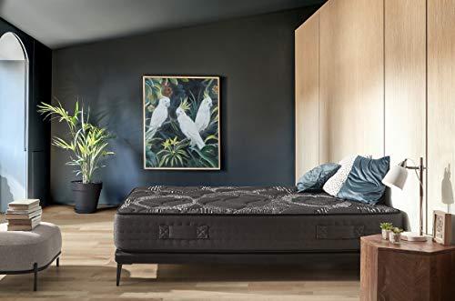 IKON | BLACKREST Visco Hybrid | Colchón 135x190 cm Muelles ensacados Viscografeno Reversible