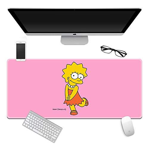 Alfombrilla de Ratón The Simpsons/Grande XXL Oficina y Gaming, Base de Goma Antideslizante, Resistente al Agua, para Teclado, Ratón, Ordenador, PC