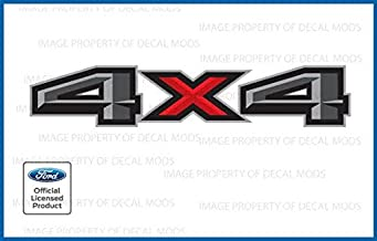 Decal Mods 4X4 Decals Bedside Truck Stickers for Ford F150 (2015, 2016, 2017, 2018) - FPP (Set of 2)