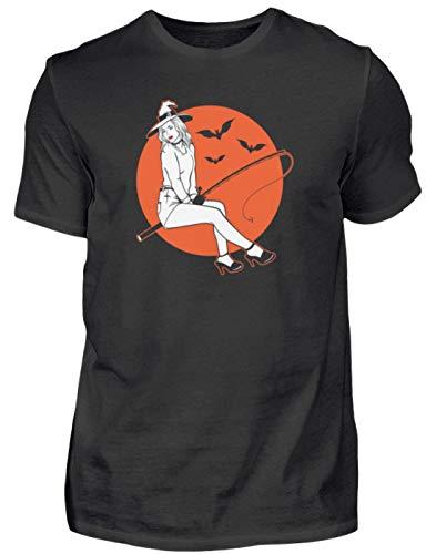Camiseta para hombre de Halloween y pesca, divertida con frases divertidas, eslogan terror, calabaza, monstruo, fantasma, zombia, fiesta, idea de regalo para hombre Negro XXXXL