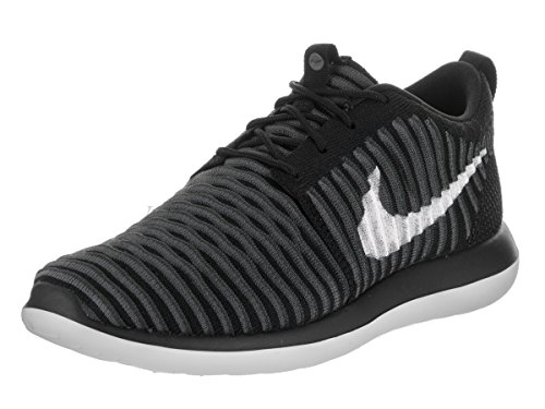 Nike Herren Roshe Two Flyknit (gs) Laufschuhe, Schwarz/Weiß/Anthrazitgrau/Dunkelgrau (Black White Anthracite Dark Grey), 40 EU