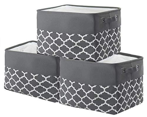 Volowoo Foldable Fabric Storage Bins Set of 6 Cubby Cubes with Handles Black