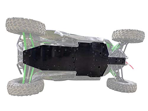 SuperATV Heavy Duty Full Skid Plate Kawasaki KRX 1000 (2020+) - Full Front to Back Protection - Drain Ports for Easy Cleanup