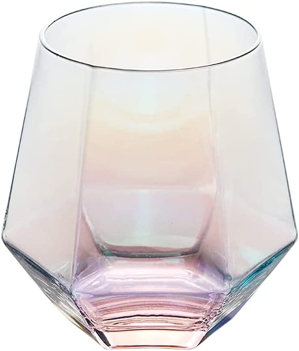 Rare Geometry Whiskey Minneapolis Mall Glass Diamond Golden Transpar Cup Crystal