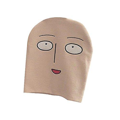 Tokyo-H One Punch Man Saitama Funny Face Strick Cap Cosplay Onepunman Kostüm