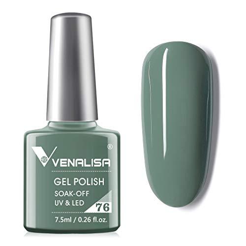 VENALISA Gel Nail Polish - Grey Green Color Soak Off UV LED Nail Gel Polish Nail Art Starter Manicure Salon DIY at Home