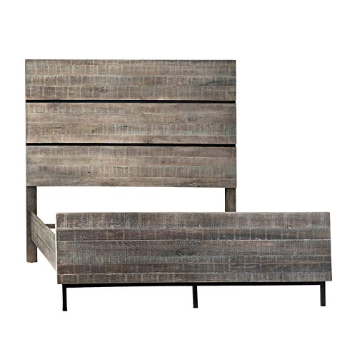 Review Of Montana Grey Queen Bed with Grey wash Oak Wood in a Rustic Mixed with Simple and Modern De...
