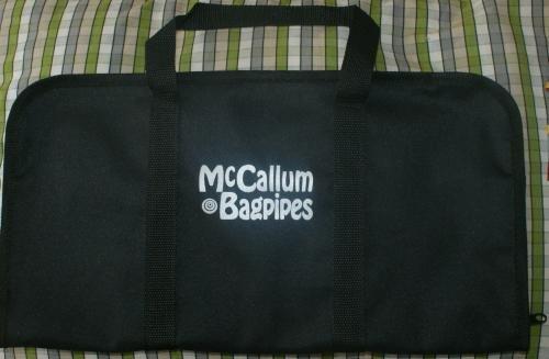 Mccallum Practice Chanter Tragetasche für Chanter, Book (A4) und Blättern