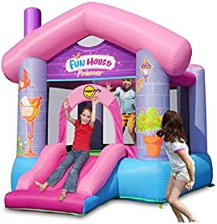 Happy Hop Fun House Princess Inflatable Bouncer With Slide
