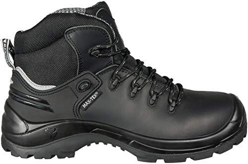 Maxguard X430 S3 Sicherheitsstiefel, Rindleder, metallfrei, Waterproof, schwarz, Gr. 38-50 (49)