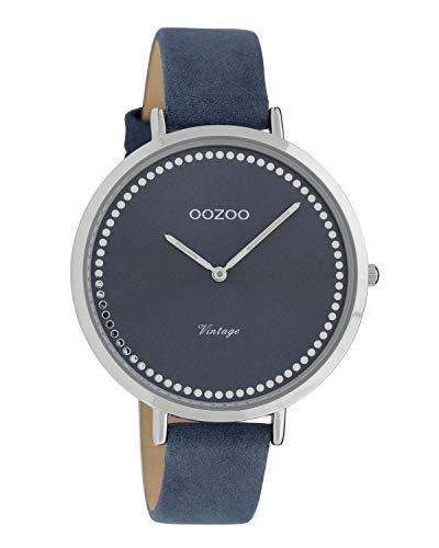 Oozoo Vintage Damenuhr Lederband 40 MM Blau/Blau C9852