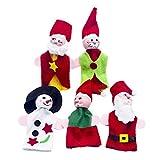 Amosfun 5 stücke Nette Eltern-Kind Weihnachten fingerpuppen Sets kreative Baby beschwichtigen fingerpuppen fingerpuppen Spielzeug für zuhause Kinder Geschichte Zeit spielzeit (Mixed Style)