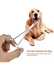 Quite el Pelo del oído Accesorios para el recortador de Perros para Mascotas Tijeras de Aseo para Mascotas, Pinzas, Pinzas para el Pelo de Las Orejas, para Perros y Gatos para el Pelo de la(Small)