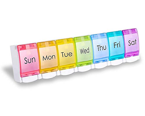 WLN Pastillero semanal, Pastillero con Etiqueta recordatoria, recuadro de Color para reponer...