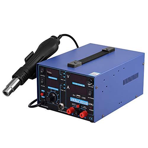 Yihua estacion de soldadura digital SMD Kit del Soldador Eléctrico con pistola...