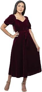 فستان لل نساء مقاس متوسط , احمر