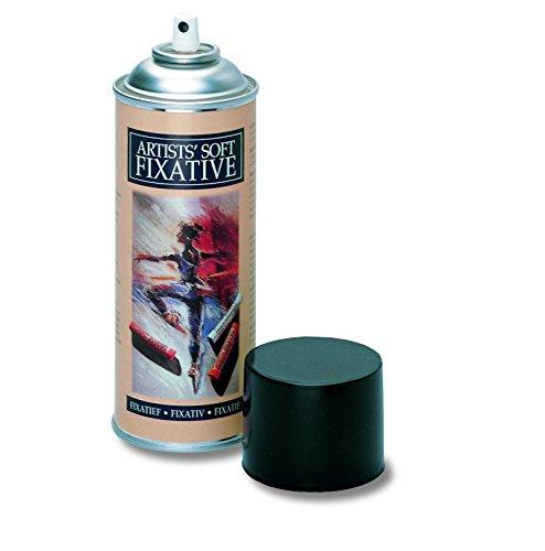 Winsor & Newton ASFIX Artist Soft-Fixativ, Sprühdose, Fixativ das Kohle-, Buntstift- und Pastellzeichnungen schützt, 400 ml