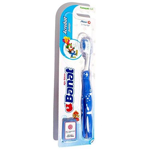 Banat 6 fördelar spack Junior tandborste mjuk