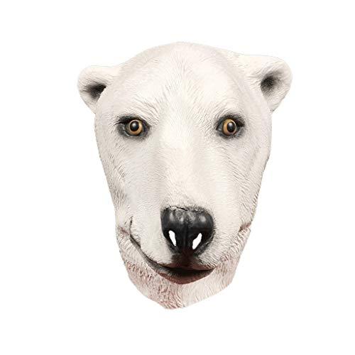 Yingji Maschera Orso Polare, Maschera in Lattice Testa di Animale, Costume Party Halloween for Fiochi diRuolo, Carnevale, Partito Decorazione degli Accessori