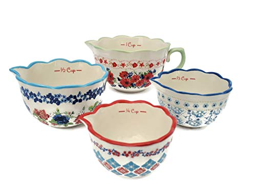 The Pioneer Woman Classic Charm Measuring Bowls, Set of 4