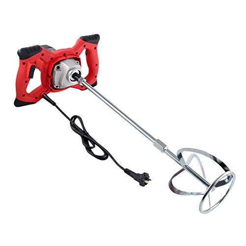2100W Electric Portable Concrete Drill Mixer,Handheld Cement Stirrer with Rod for Mixing Grout Paint Mortar Mud Plaster,6 Speed Adjustment 110V