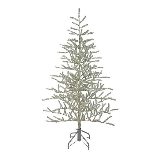 Northlight Metallic Artificial Tinsel Christmas Tree, 5', Silver