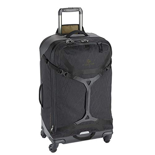 Eagle Creek Gear Warrior 95L, Travel Roller Bag with 360° movement wheels, Outdoor Wheeled Trolley, PET ripstop abrasion & water resistant material, extendable Handle, Jet Black, 44 x 76 x 30 cm