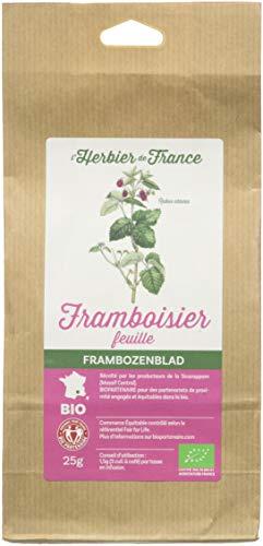 L'herbier De France Framboisier Feuilles Bio Sachet Kraft 25 G