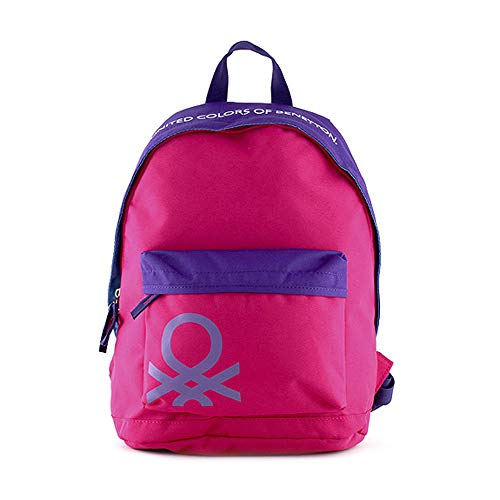 Target Benetton Backpack Zaino, 40 cm, Rosa (Pink)
