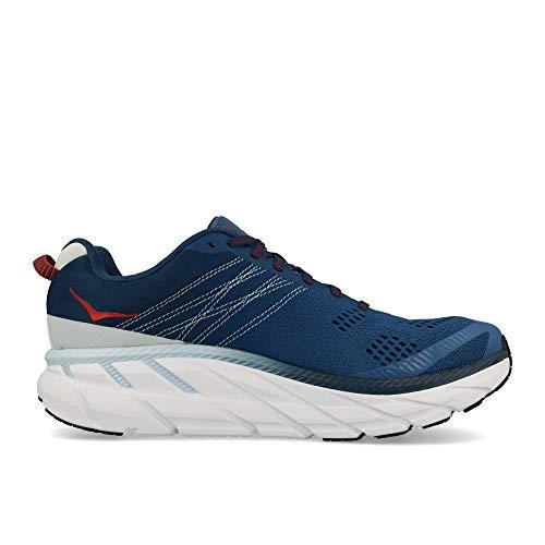 HOKA ONE ONE Mens Clifton 6 Ensign Blue/Plein Air Running Shoe - 8