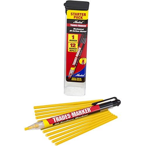 Markal 96131 Trades Marker (1 Holder, 12 Refills), Yellow