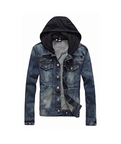 Prime Men's Denim Jacket Slim Fit Casual Jacket DJBH-01 (DJBH, L)