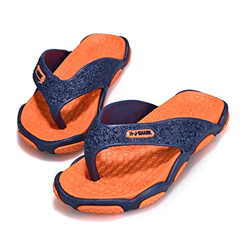 Chanclas para hombre con plantilla de EVA Esterilla de yoga Cómodas sandalias de tanga para caminar con fascitis plantar Soporte de arco Resbalón en interiores al aire libre para zapatillas de verano