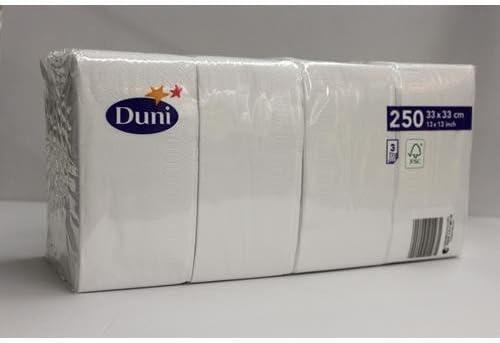 Duni 250 Zelltuch Servietten Weiß 33cm X 33cm Drogerie Körperpflege