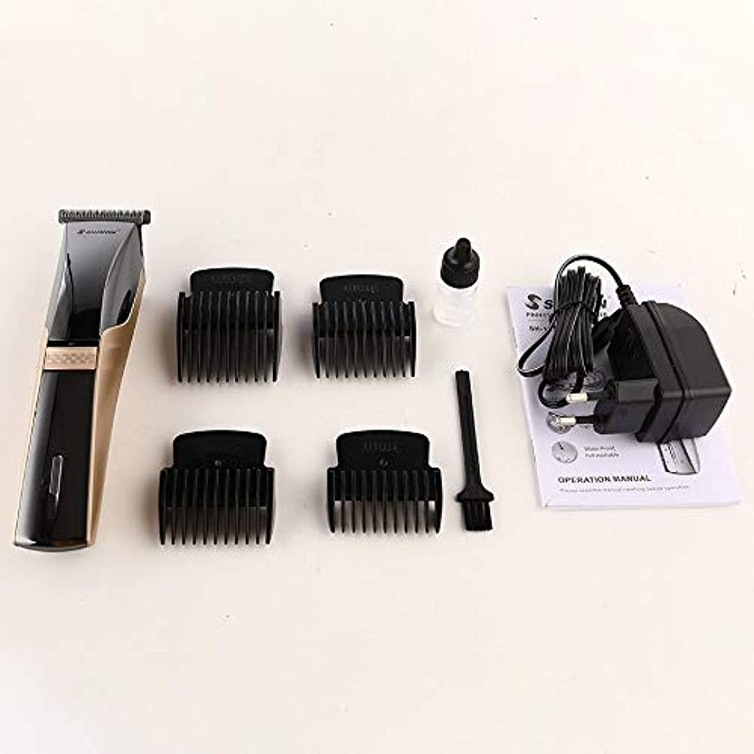ユーモラスビタミン悪因子SHINON SH-1870電動バリカン充電式ウォッシャブルヘアカッタートリマーガイド付き櫛ユニバーサル理髪散髪ツール