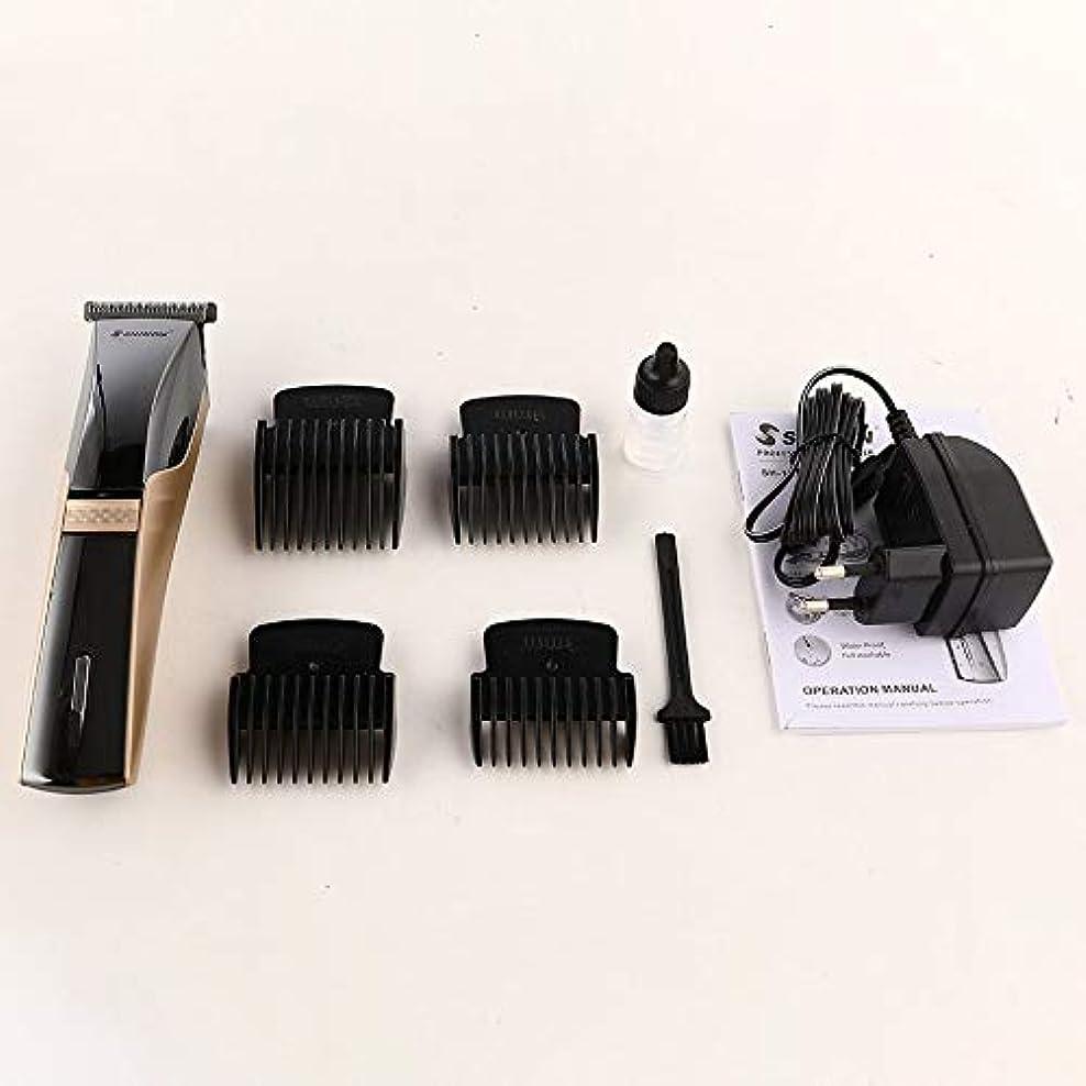 かすれた講師不合格SHINON SH-1870電動バリカン充電式ウォッシャブルヘアカッタートリマーガイド付き櫛ユニバーサル理髪散髪ツール