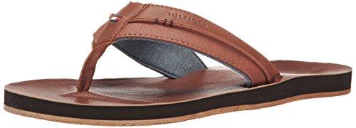Tommy Hilfiger Men's Davidson Flat Sandal, Cognac, 8