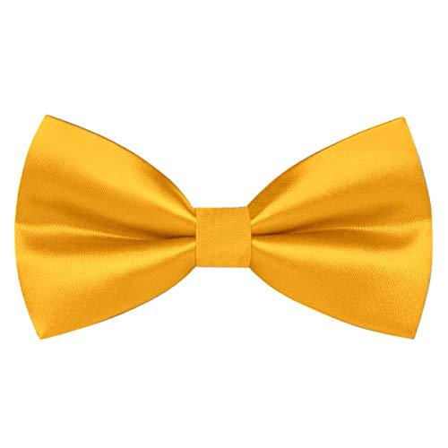 wirarpa Pajarita Anudada Ajustable para Hombre con Gancho Formal Casual Amarillo Pack de 1 L