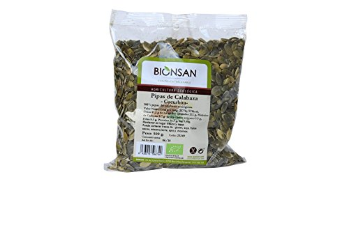 Bionsan Pipas de Calabaza Cucúrbita Ecológica | 2 Paquetes de 500 gr | Total 1000 gr