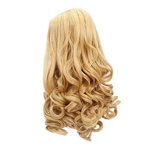 MUZI WIG Doll Hair Wig, Long Wavy Heat Resist Doll Wigs for 18'' American Dolls (406)