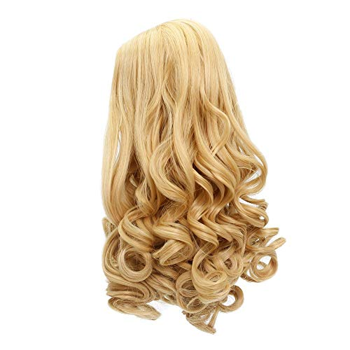 MUZI WIG Doll Hair Wig, Long Wavy Heat Resist Doll Wigs for 18'' American Dolls (406)
