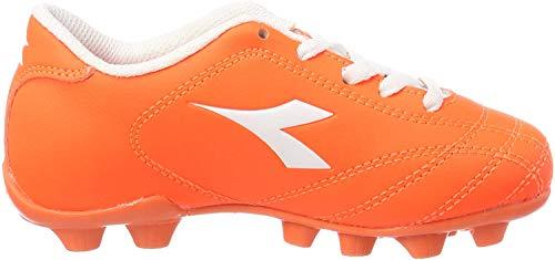 Diadora Jungen 6play Md Jr Fußballschuhe, Rot (Rosso Fluo Bianco), 33 EU