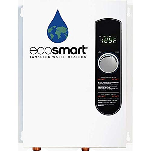 ecosmart ECO 18 Electric Tankless Water Heater, 18 KW at 240 Volts with Patented Self Modulating Technology,White